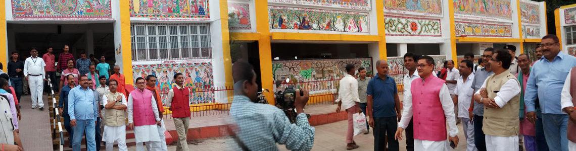 Madhubani Painting at Madhubani railway Station